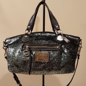 Limited Edition Coach Poppy Rocker Sequin Satchel